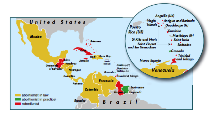 Map courtesy of the World Coalition Against the Death Penalty
